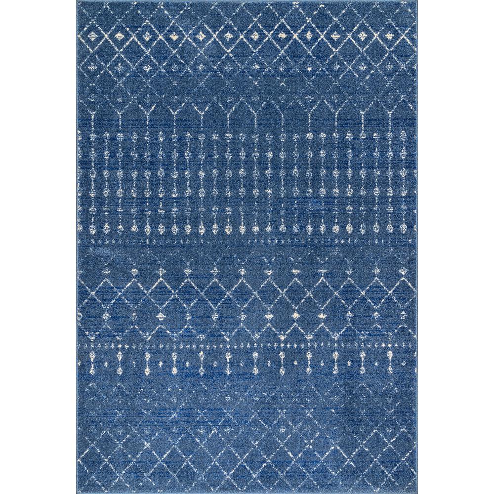 Nuloom Moroccan Blythe Dark Blue 8 Ft