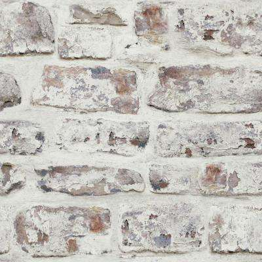 Whitewash Wall White Wallpaper