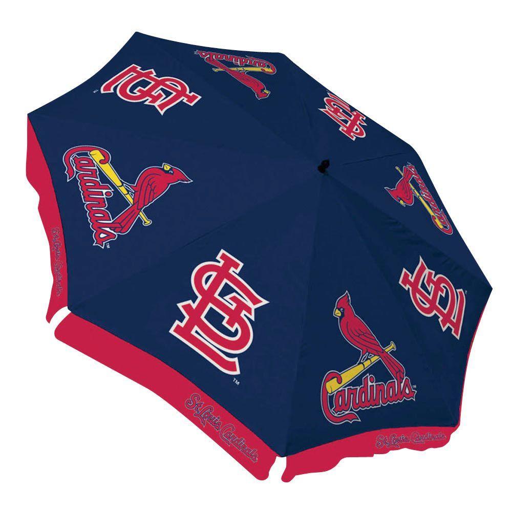 Team Sports America St. Louis Cardinals 9 ft. Patio Umbrella in Blue