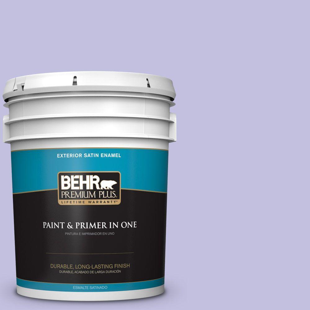 BEHR Premium Plus 5-gal. #630A-3 Weeping Wisteria Satin Enamel Exterior Paint