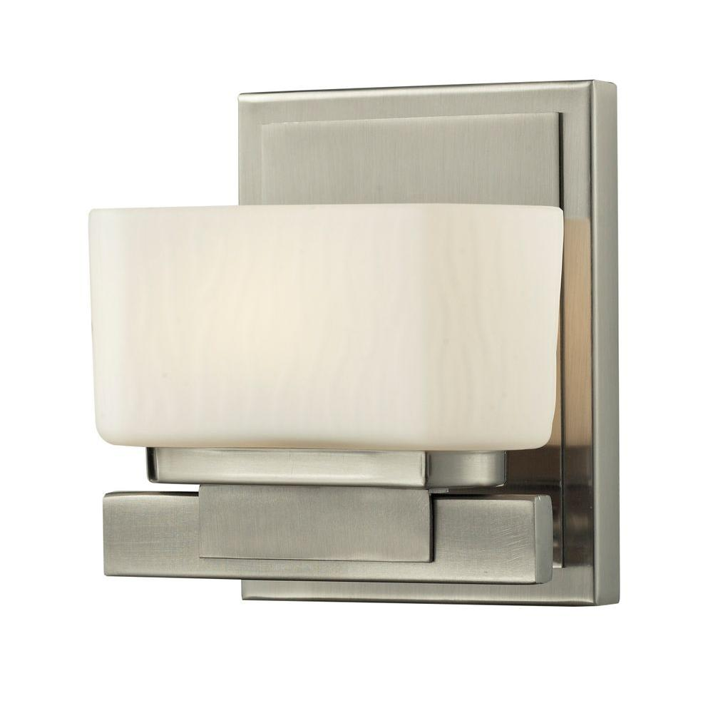 Terra 1-Light Brushed Nickel Bath Vanity Light