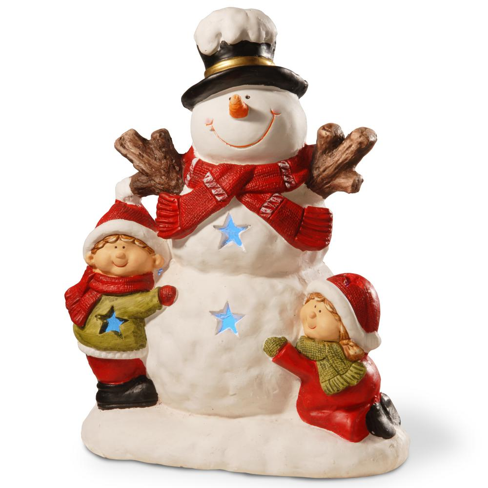 National Tree Company 17 In Lighted Snowman Decor Piece