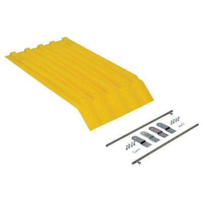 Yellow Poly Lid for Style H Size 0.25 cu. yd. Hopper
