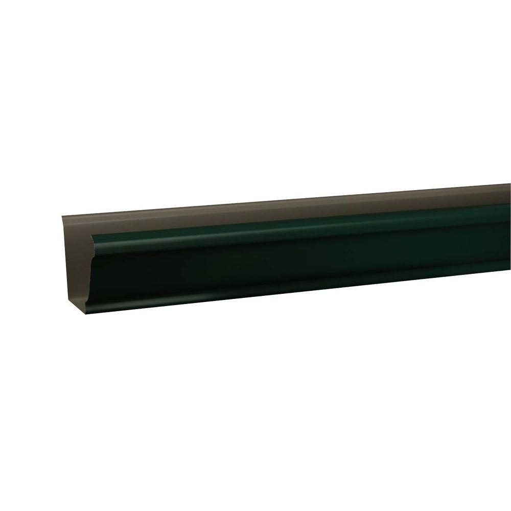 Amerimax Home Products 5 in. x 10 ft. K-Style Grecian Green Aluminum Gutter