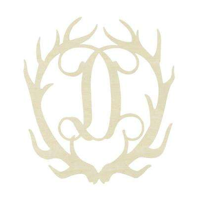 19.5 in. Unfinished Antler Monogram (D)