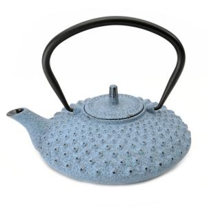 Click here to buy BergHOFF Studio 3.36-Cup Blue Cast Iron Teapot by BergHOFF.