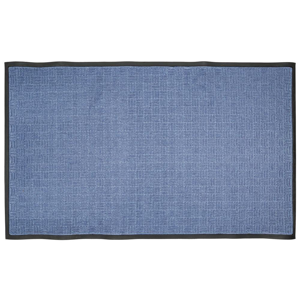 Blue 36 in. x 60 in. Rubber Commercial Door Mat