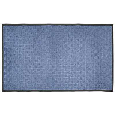 36 in. x 60 in. Blue Rubber Commercial Door Mat