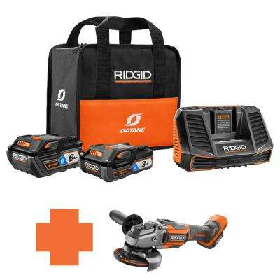 18-Volt OCTANE Battery and Charger Kit w/(1) 3.0 Ah, (1) 6.0 Ah Battery and Charger w/Bonus 4-1/2 in. Angle Grinder