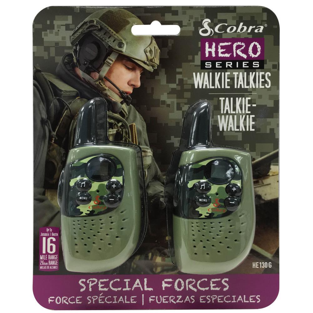 Cobra Kids Special Forces Hero 16-Mile Range 2-Way Radio (2-Pack) by Cobra