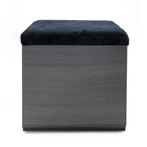 Marvelous Noble House Bateau Modern Glam Black Velvet And Gray Faux Bralicious Painted Fabric Chair Ideas Braliciousco
