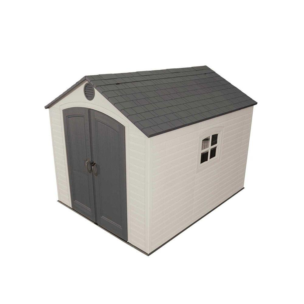 Lifetime 8 ft. x 10 ft. Outdoor Storage Shed, Browns/Tans