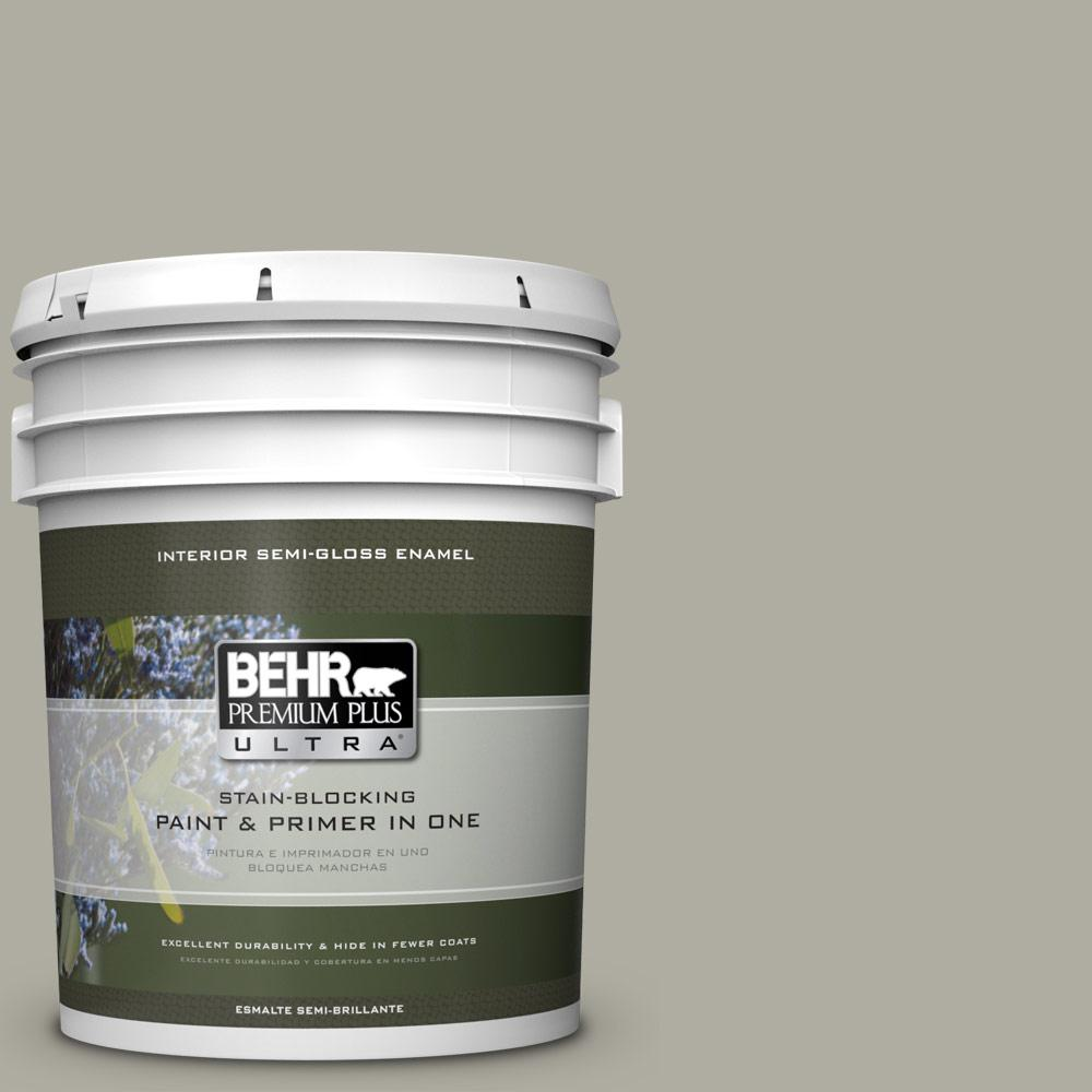 5 gal. #PPU25-06 Wells Gray Semi-Gloss Enamel Interior Paint