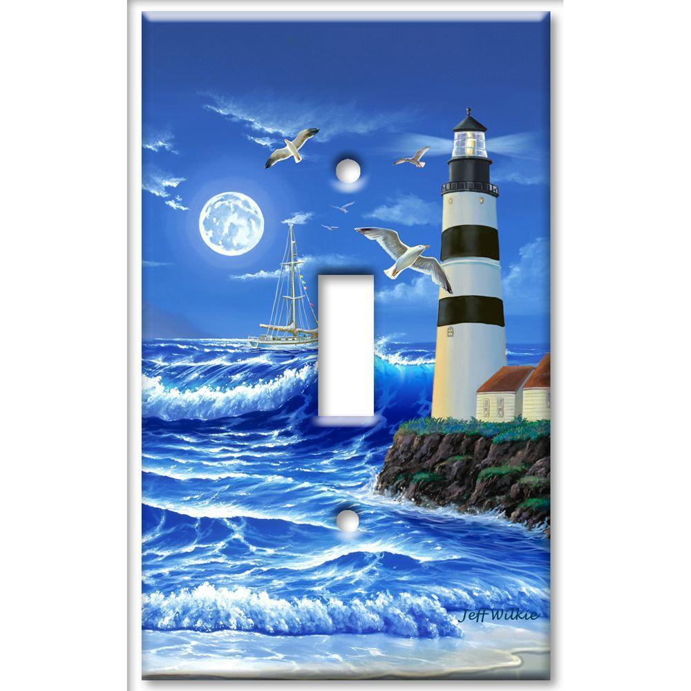 Art Plates Lighthouse 1 Toggle Wall Plate