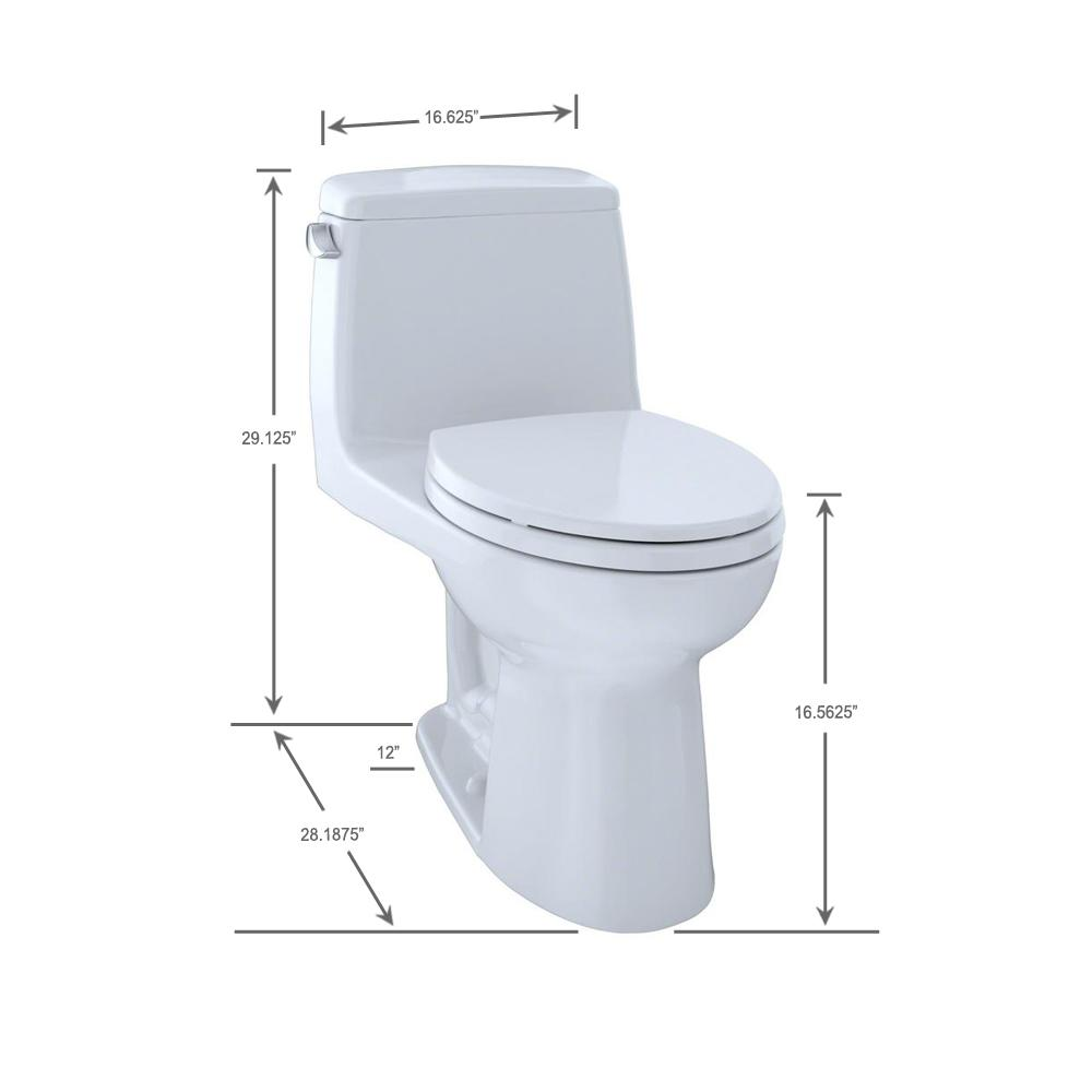 Pleasing Toto Ultramax Ada Compliant 1 Piece 1 6 Gpf Single Flush Elongated Toilet In Cotton White Seat Included Andrewgaddart Wooden Chair Designs For Living Room Andrewgaddartcom