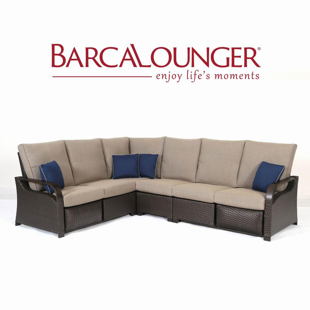 Barcalounger Grove Sectional Shale Cushions Image