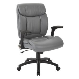 Marvelous Charcoal Grey Faux Leather Managers Chair With Built In Lumber Support Ncnpc Chair Design For Home Ncnpcorg