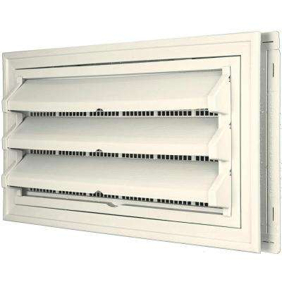 9-3/8 in. x 17-1/2 in. Foundation Vent Kit with Trim Ring and Optional Fixed Louvers (Molded Screen) in #034 Parchment