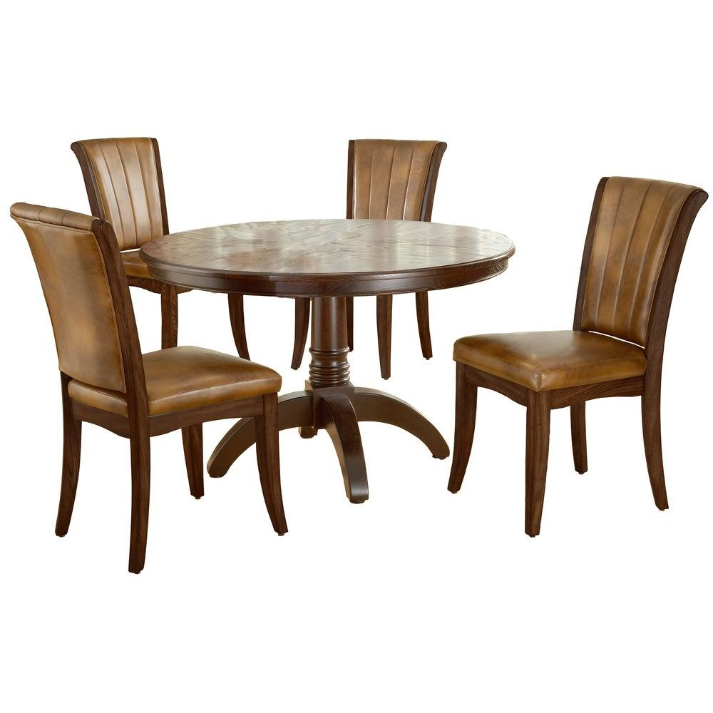 Hillsdale Furniture Grand Bay 5-Piece Round Cherry Dining Set-DISCONTINUED