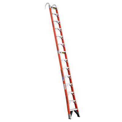 14 ft. Fiberglass Straight Posting Ladder with 300 lb. Load Capacity Type IA Duty Rating