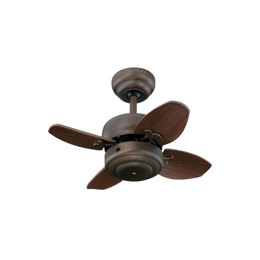 Monte Carlo Mini 20 20 In Roman Bronze Ceiling Fan