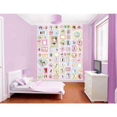 96 in. H x 78 in. W Studio Pets Wall Mural