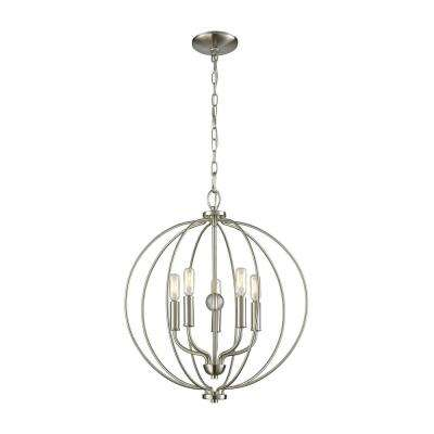 Williamsport 5-Light Brushed Nickel Chandelier