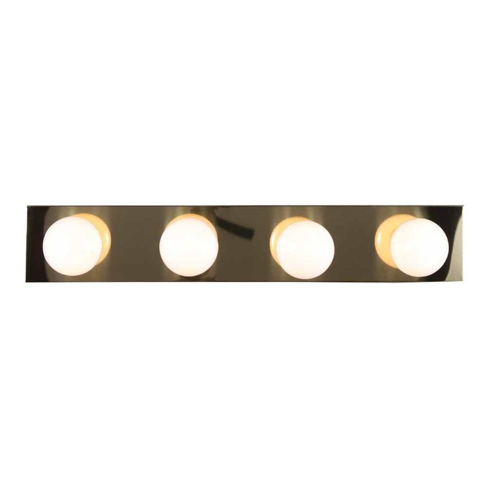 Filament Design Lenor 4-Light Polish Brass Incandescent Bath Vanity Light