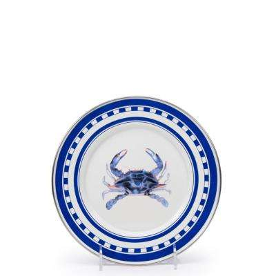 8.5 in. Blue Crab Enamelware Round Sandwich Plate