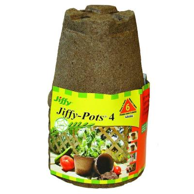 4 in. Round Peat Pots (6-Pack)