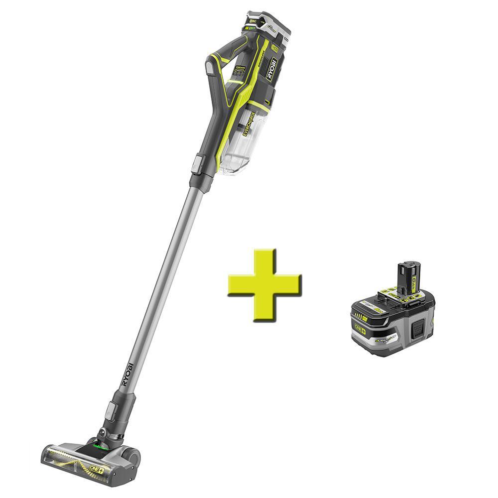 18-Volt ONE+ Stick Vacuum Cleaner with Bonus 18-Volt ONE+ Lithium-Ion LITHIUM+ HP 6.0 Ah High Capacity Battery