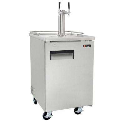 Commercial Grade Full Size Beer Keg Dispenser with Dual Faucet Tower