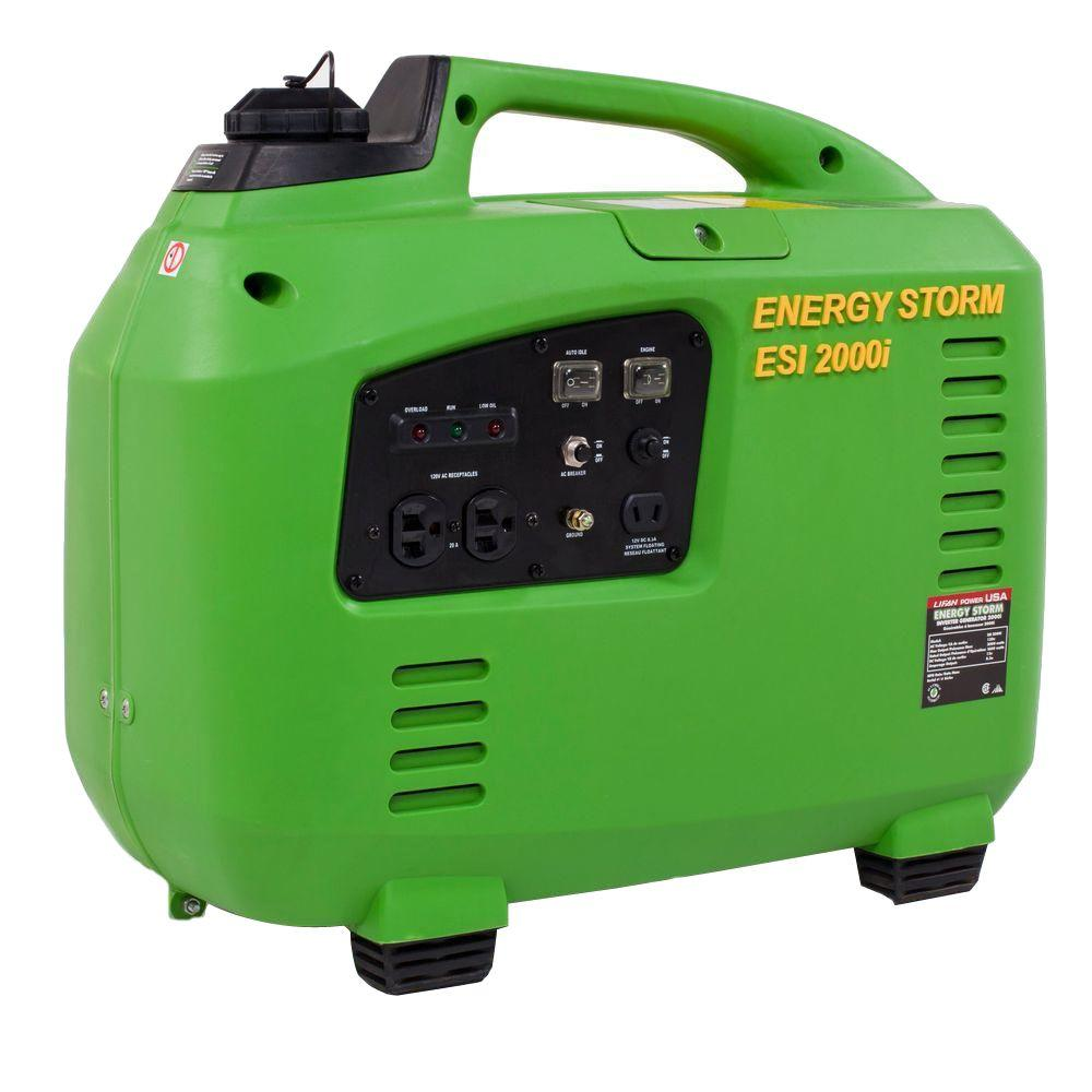 LIFAN Energy Storm 2,200-Watt 125cc Gasoline Powered Inverter Generator with CARB