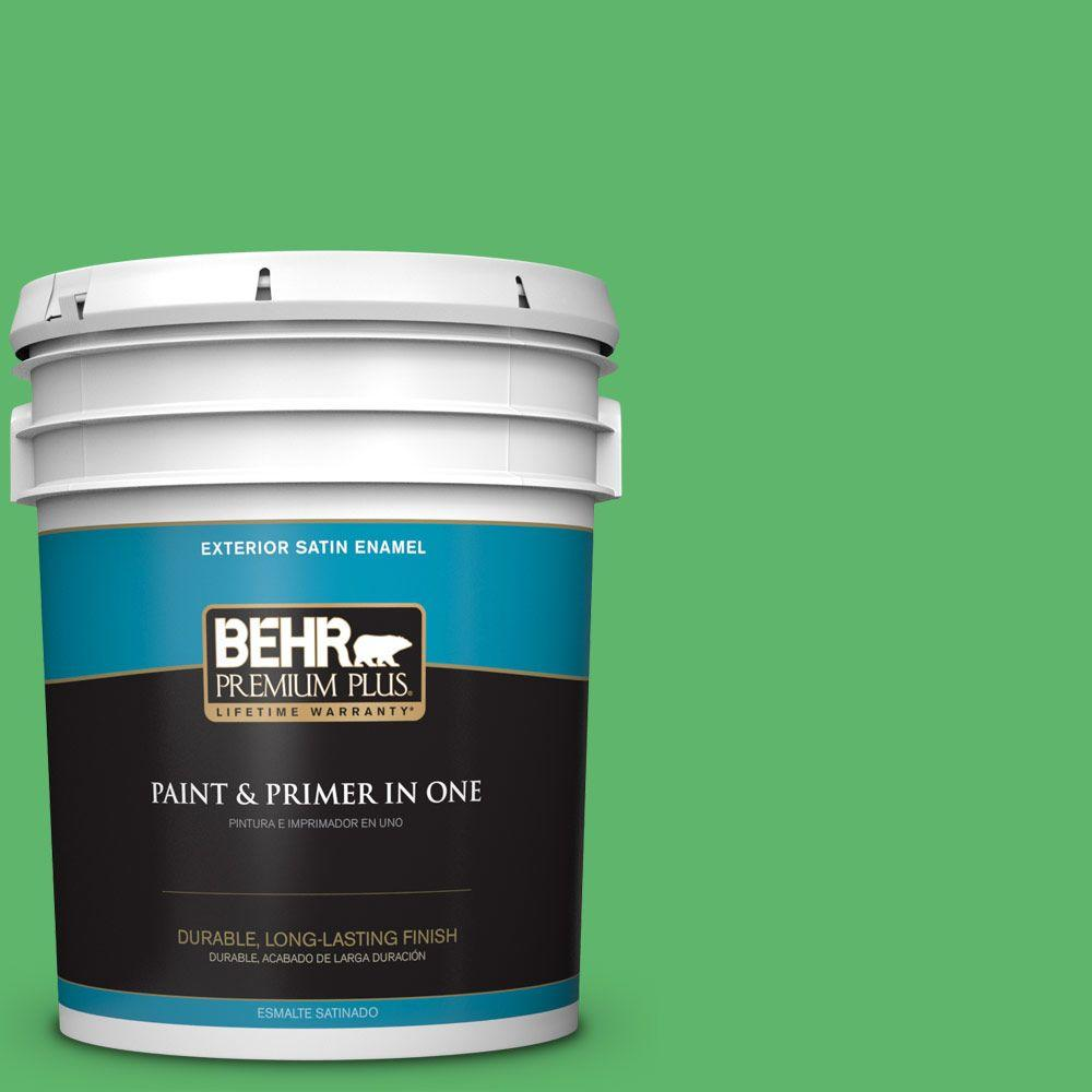 5-gal. #P390-6 Lawn Party Satin Enamel Exterior Paint