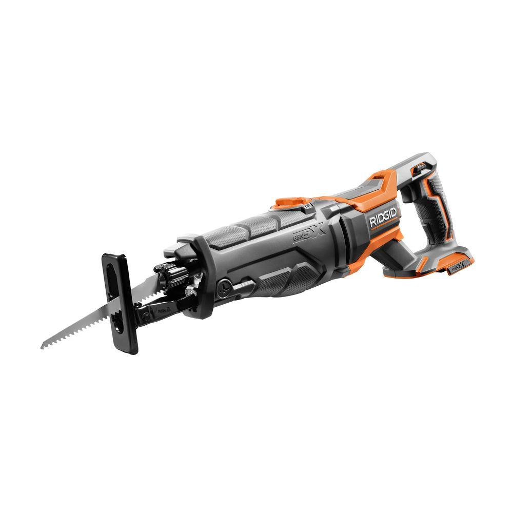 Ridgid 18 volt gen5x cordless reciprocating saw tool only with ridgid 18 volt gen5x cordless reciprocating saw tool only with 1 general purpose blade r8642n the home depot greentooth Images