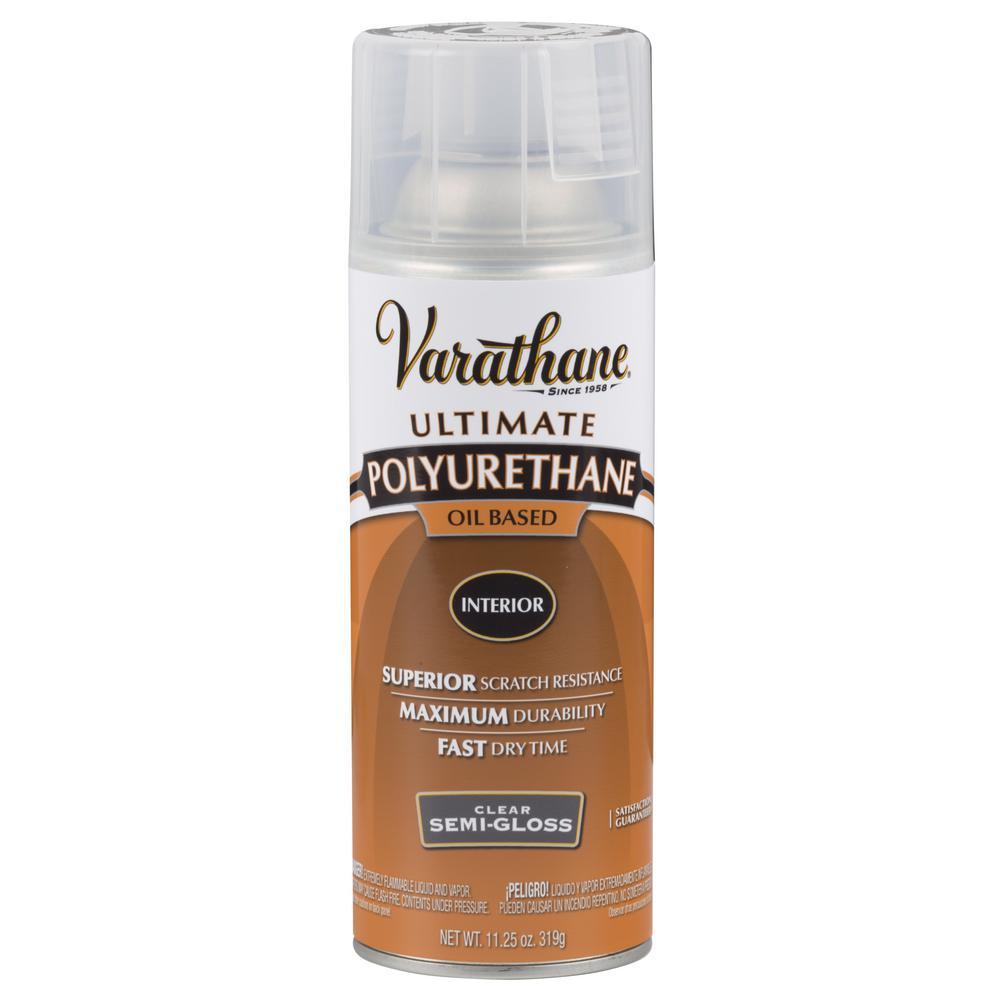Varathane 11 Oz Clear Semi Gloss Oil Based Interior Polyurethane Spray Paint 342078 The Home Depot