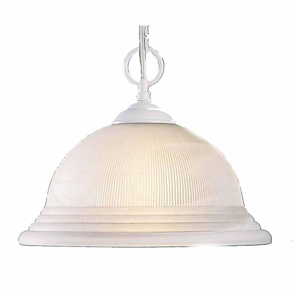 Lenor 1-Light White Incandescent Ceiling Pendant