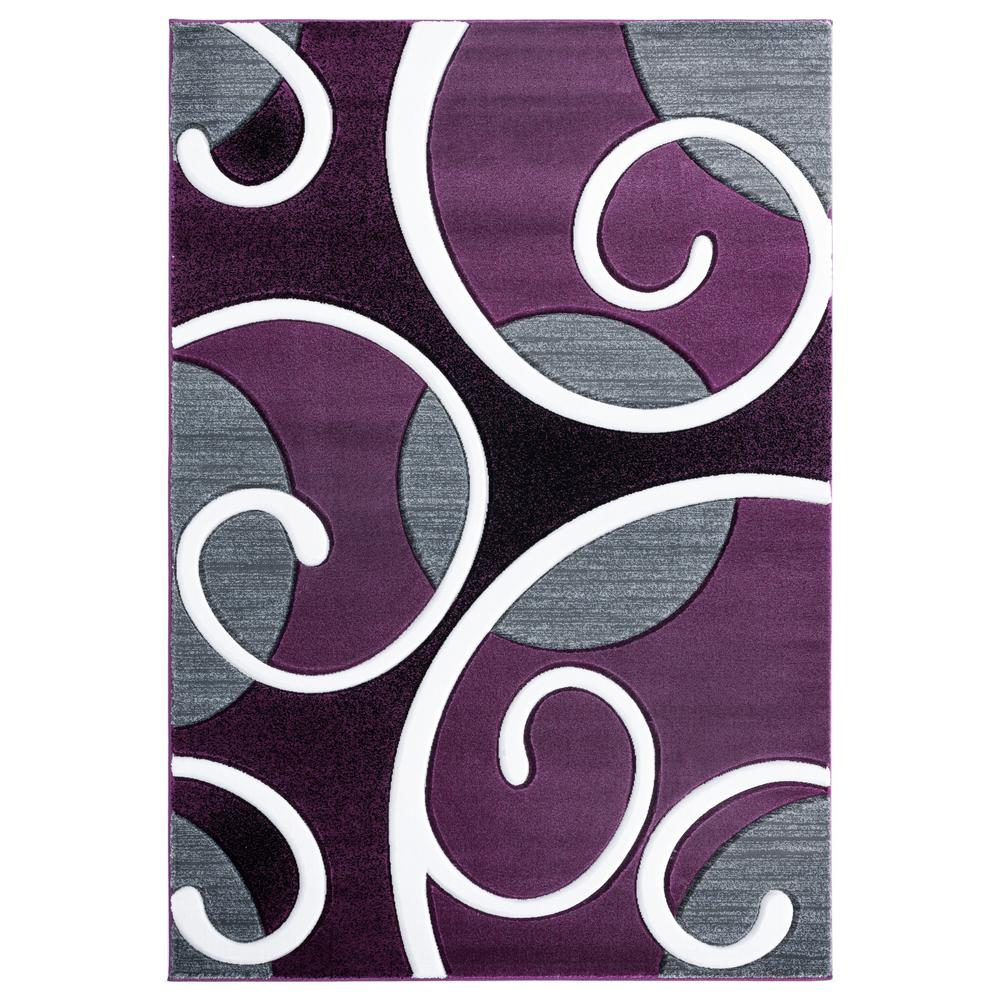 Bristol Riley Plum 2 Ft 7 In X 4 Area Rug