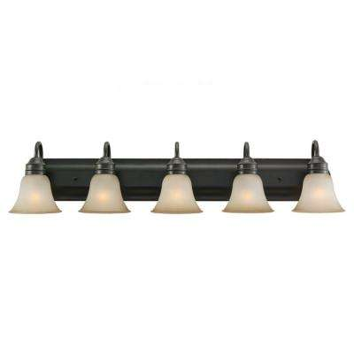 Gladstone 5-Light Heirloom Bronze Vanity Light