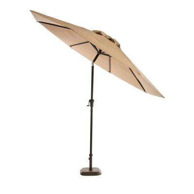 Belleville 9 ft. Steel Tilt Patio Umbrella in Beige