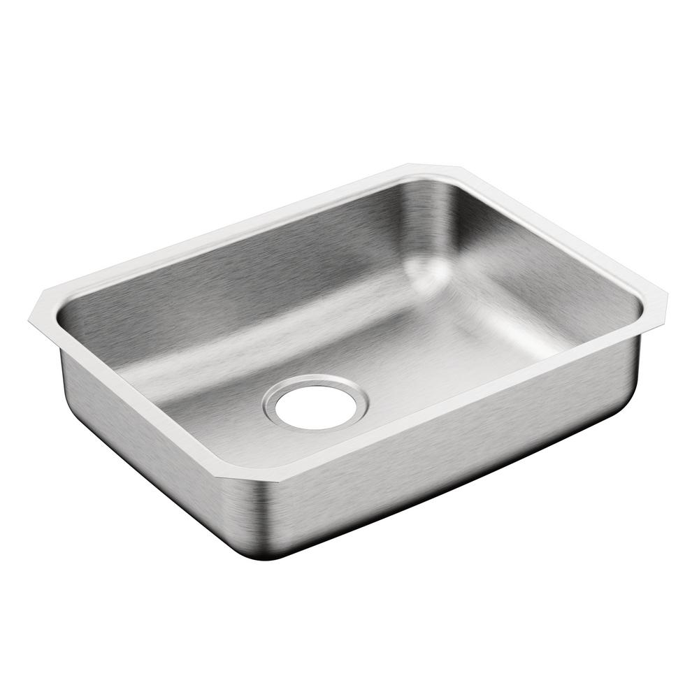 MOEN 2000 Series Undermount Stainless Steel 23 In. Single Basin Kitchen Sink