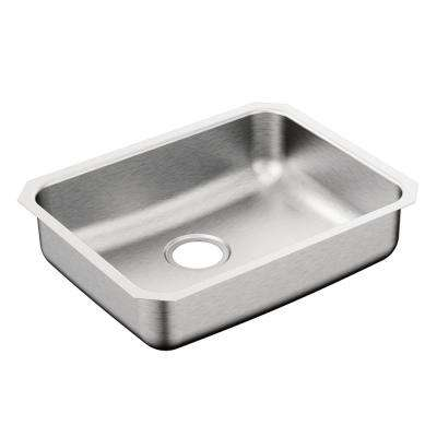 2000 Series Undermount Stainless Steel 23 in. Single Basin Kitchen Sink