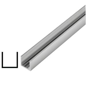 Alexandria Moulding 5/8 in  x 5/8 in  x 96 in  Metal Mira Lustre U-Channel  Moulding-AT014-AM096C03 - The Home Depot
