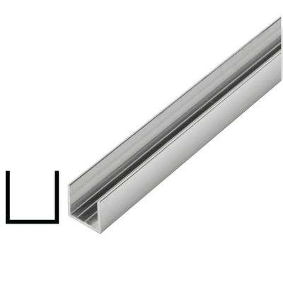 5/8 in. x 5/8 in. x 96 in. Metal Mira Lustre U-Channel Moulding