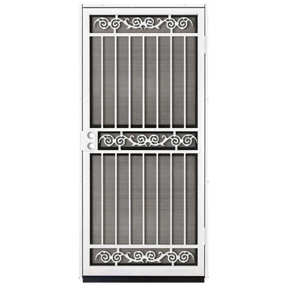 Perfect Unique Home Designs 36 In. X 80 In. Sylvan White Surface Mount Outswing  Steel