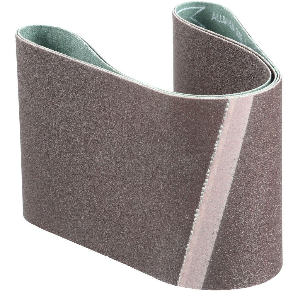 3 in. x 21 in. 120-Grit Abrasive Belt (2-Pack)