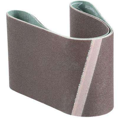 3 in. x 21 in. 120-Grit Abrasive Belt (2-Pack)