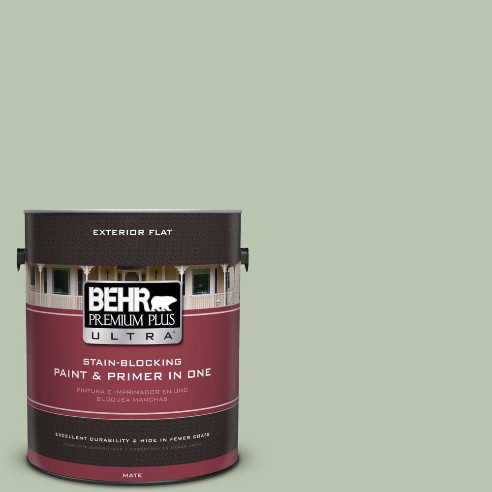1-Gal. No.PPU11-10 Whitewater Bay Flat Exterior Paint