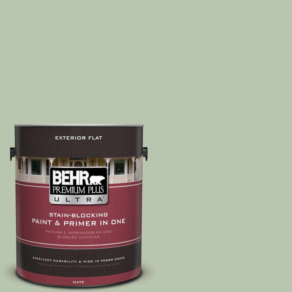 BEHR Premium Plus Ultra 1-Gal. No.PPU11-10 Whitewater Bay Flat Exterior Paint