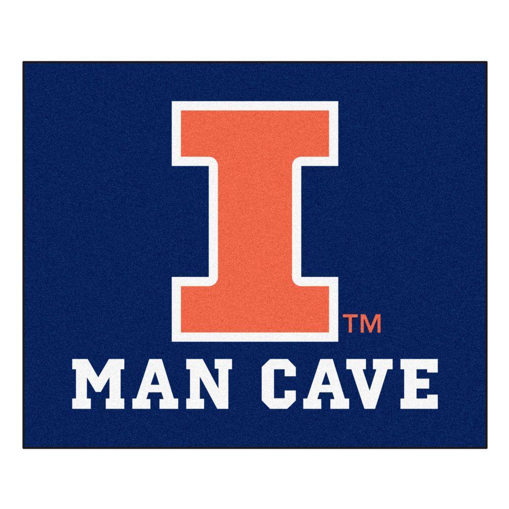 University of Illinois Blue Man Cave 5 ft. x 6 ft. Area Rug